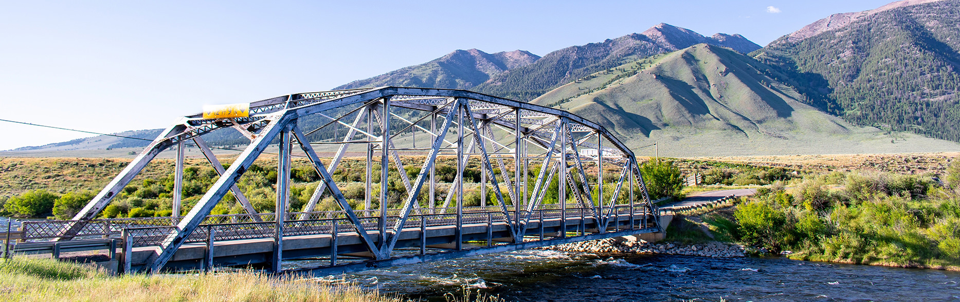 three dollar bridge near the madison river ennis montana